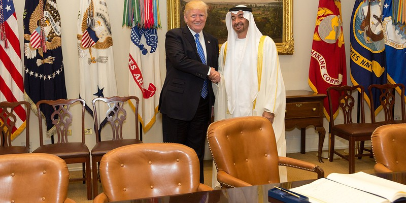 Sheikh Mohammed Bin Zayed of the UAE and President Trump, who played a key role in the UAE-Israel deal.
