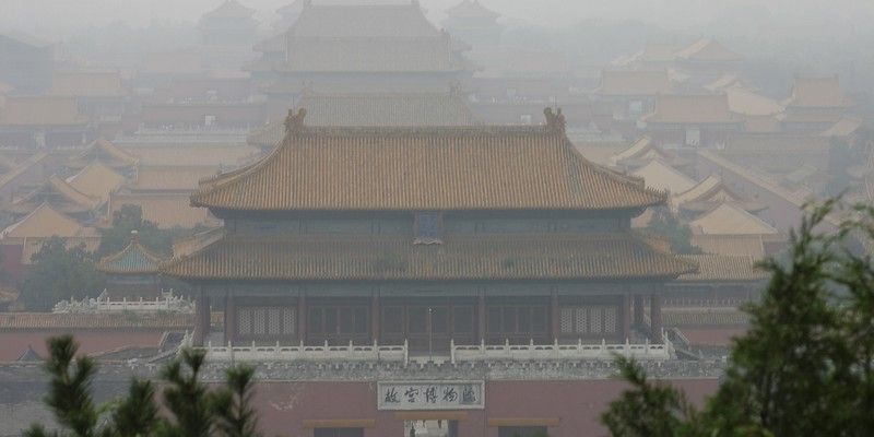 The Forbidden City in Smog