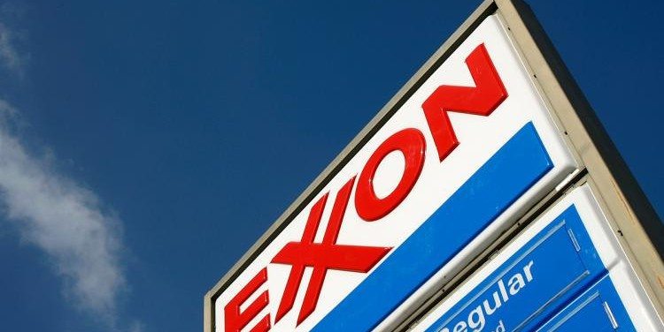 An Exxon sign