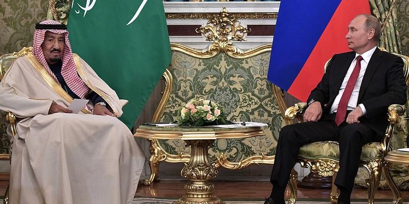 King Salman and Putin