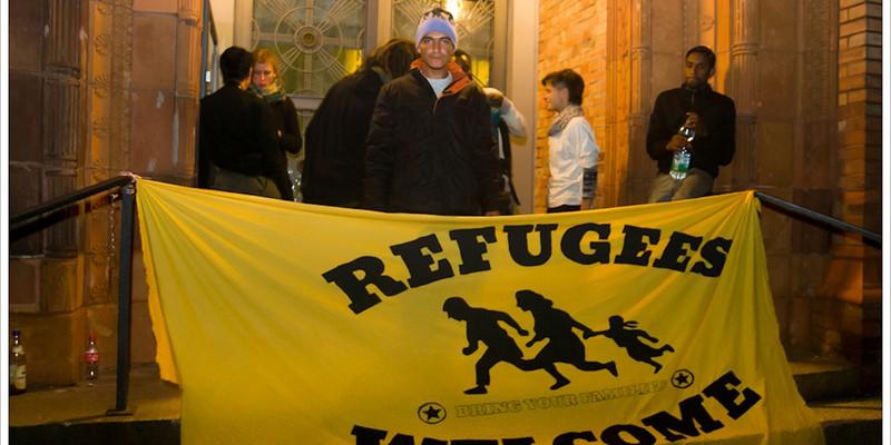 Pro-Refugee Banner, Berlin, 2014.