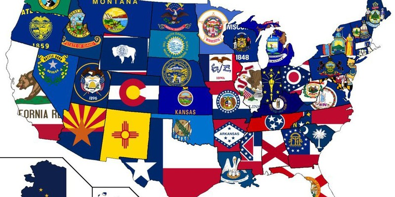 usmap with state flags