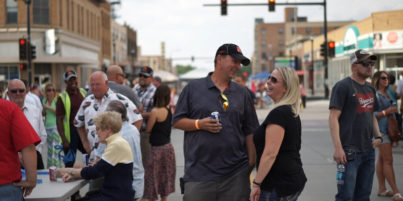 Williston Residents at a concert in the town center